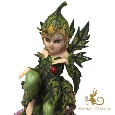 "Figurine Fée Pixie ""La Coccinelle"""