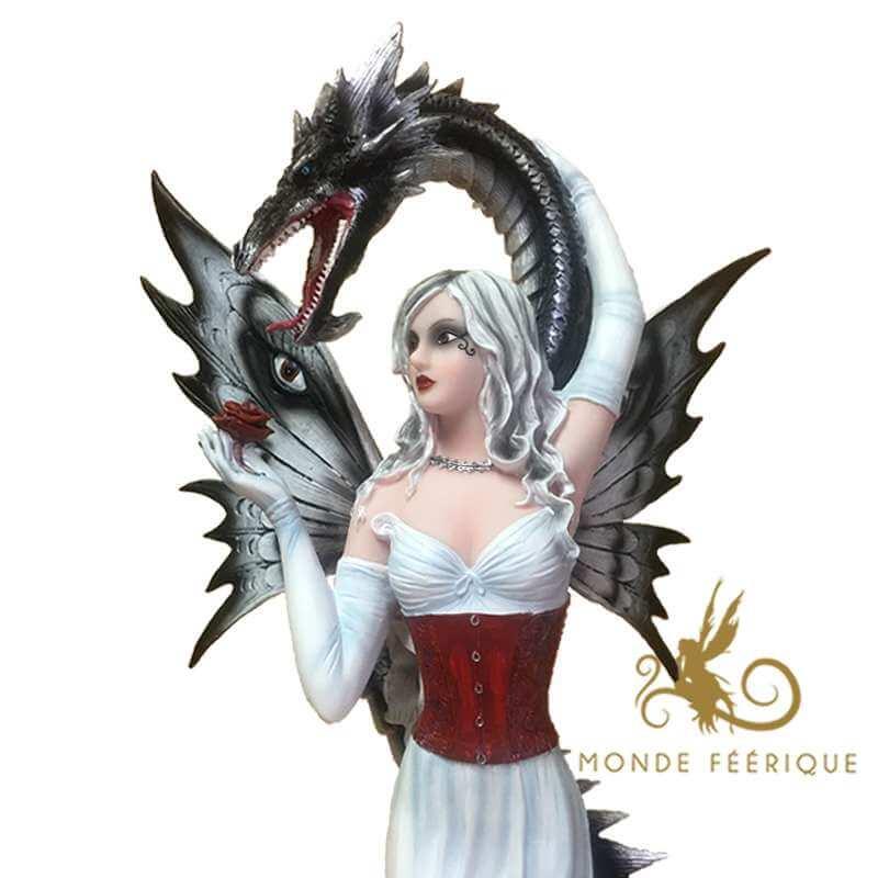 Figurine Fée Géante et Dragon Karma -- 61cm