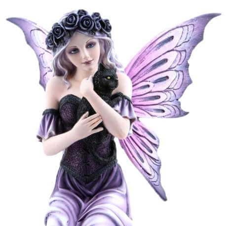 "Figurine Elfe ""Chat Purple"""