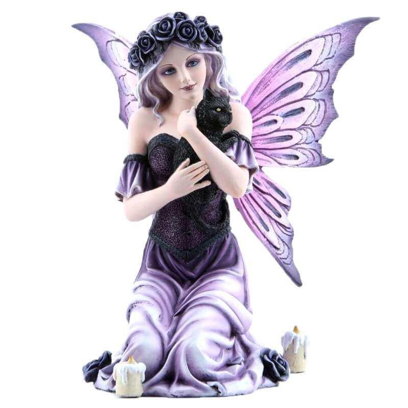 """Figurine Elfe """"Chat Purple"""""""