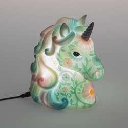 Lampe tête de Licorne USB Vert et Rose
