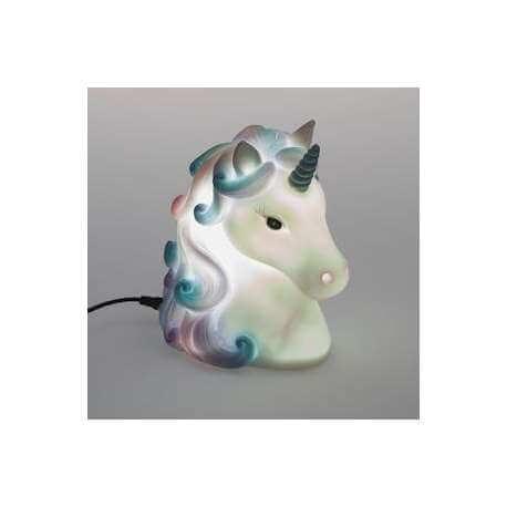 Lampe tête de Licorne USB Bleu et Rose
