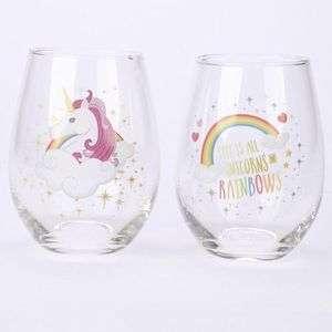 Set de 2 verres Licornes