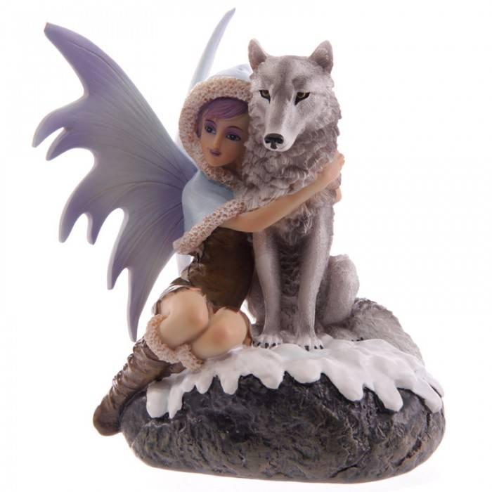 Figurine Fée Loup -- 17cm