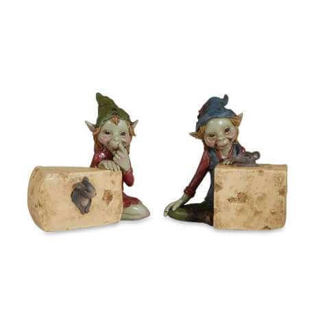 Figurines de Pixie Fromage & Souris -- 10cm par 2