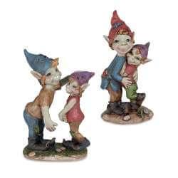 """Figurine """"une Famille de Pixie"""" -- 9,5cm par 2"""