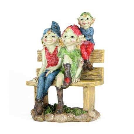 Statue Pixie Famille Heureux -- 17cm
