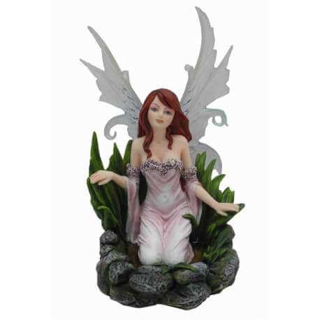 Statuette Fée avec ailes blanches