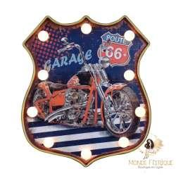 Plaque Led Lumineux Moto Route 66