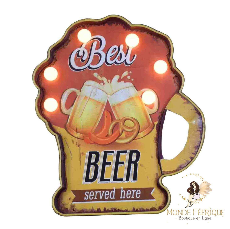 Plaque Led Décoration Bières Entre Amis