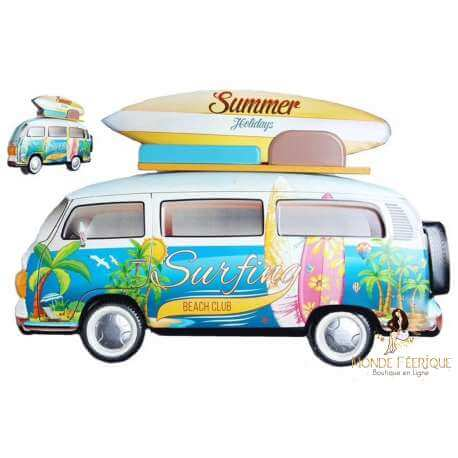 Plaque Métal Surf Cool 62cm