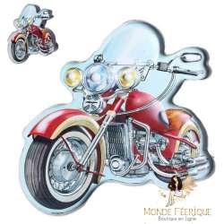 Plaque Métal LED Moto - motard déco maison mur mural