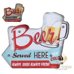 Plaque vintage LED Bière Apéro cuisine