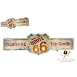 Plaque vintage LED Route 66 deco