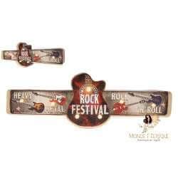 Plaque vintage LED Festival Rock Musique