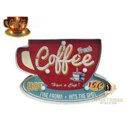 Plaque vintage Café cuisine bar