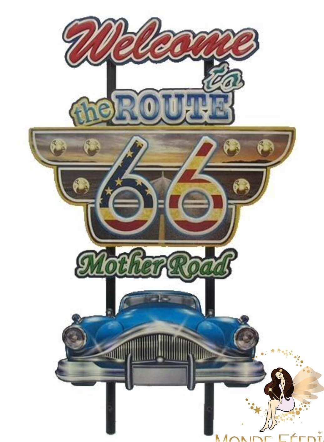 Plaque Métal Las Vegas Route66 75cm