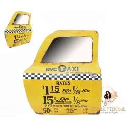 Plaque Métal Taxi NYC 47cm