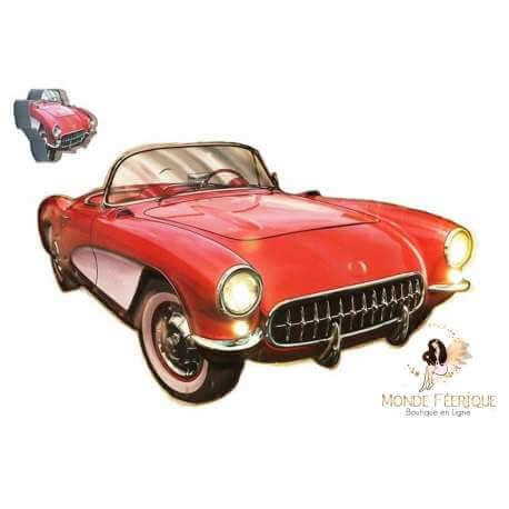 Plaque vintage corvette USA décoration garage
