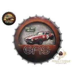 Plaque Metal Capsule Vintage 42 cm