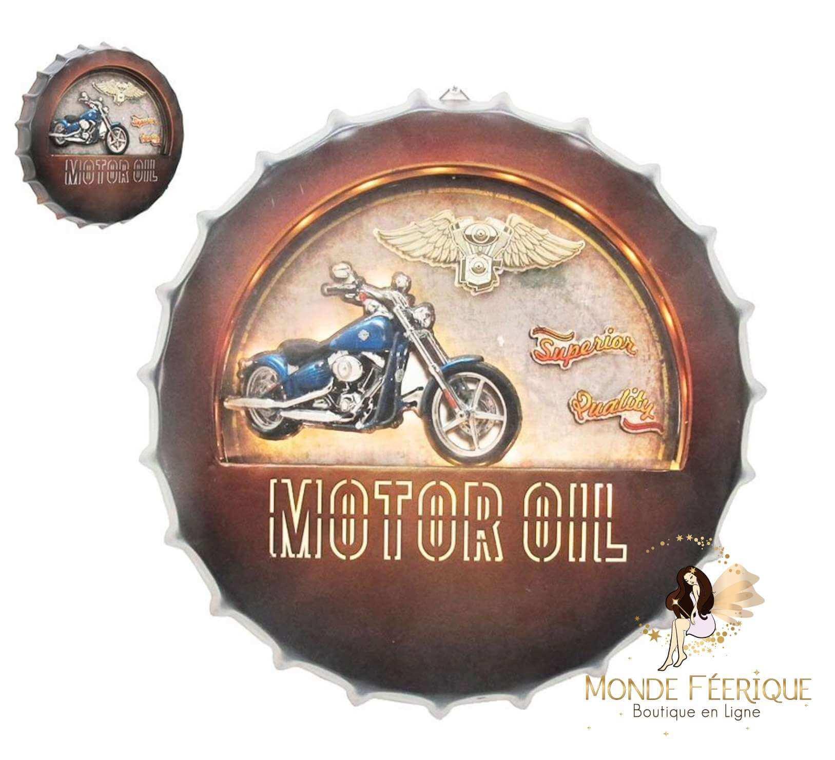 Capsule Moto Vintage 42 cm LED Lumineux
