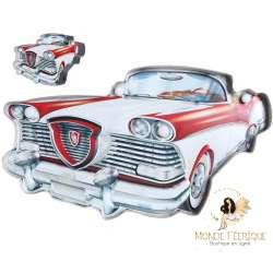 Plaque Metal Led Lumineux Cadillac 43cm