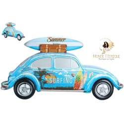 """Plaque Metal Surf """"En route pour surfer"""" 51cm"""