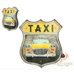 Plaque retroTaxi Jaune NYC