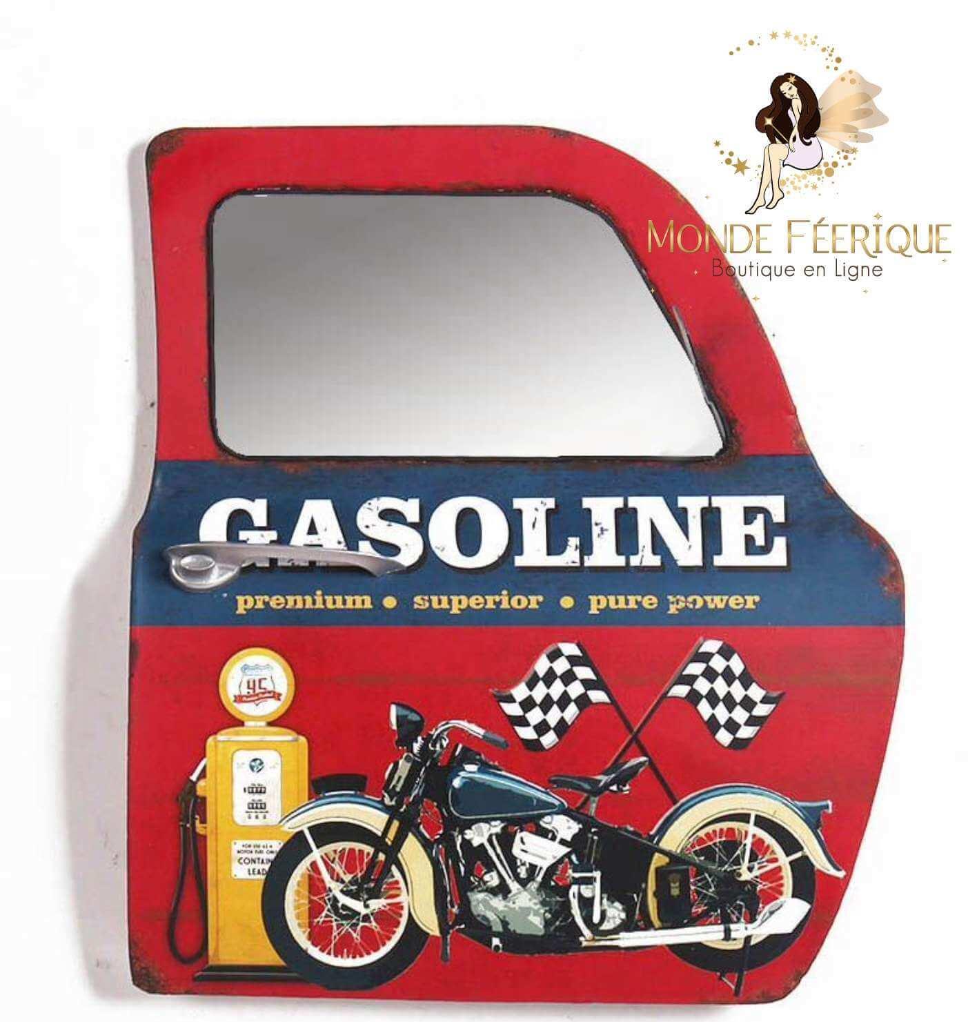 Plaque / Porte Miroir Vintage - Décoration portière Américaine 47cm