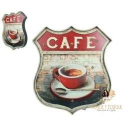 Plaque Metal Mur Lumineux Café Cool