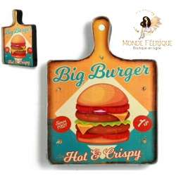 Plaque retro Burger Hipster Food foodtruck cuisine restaurant