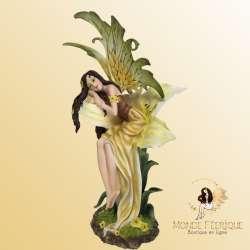 """Grande Statue de Fée """"L'orchidée"""" -- 36cm"""