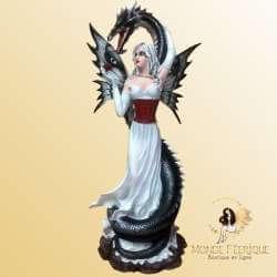 Figurine Fée Géante et Dragon