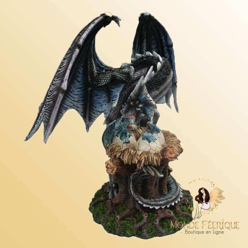 Statue Dragon Grande taille avec bébé dragon