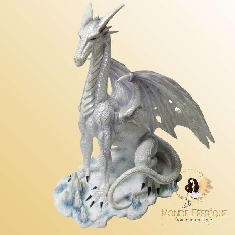 Statue Dragon Blanc 35cm
