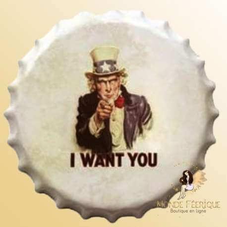 "Capsule Vintage Oncle Sam ""I want you"" 40cm"