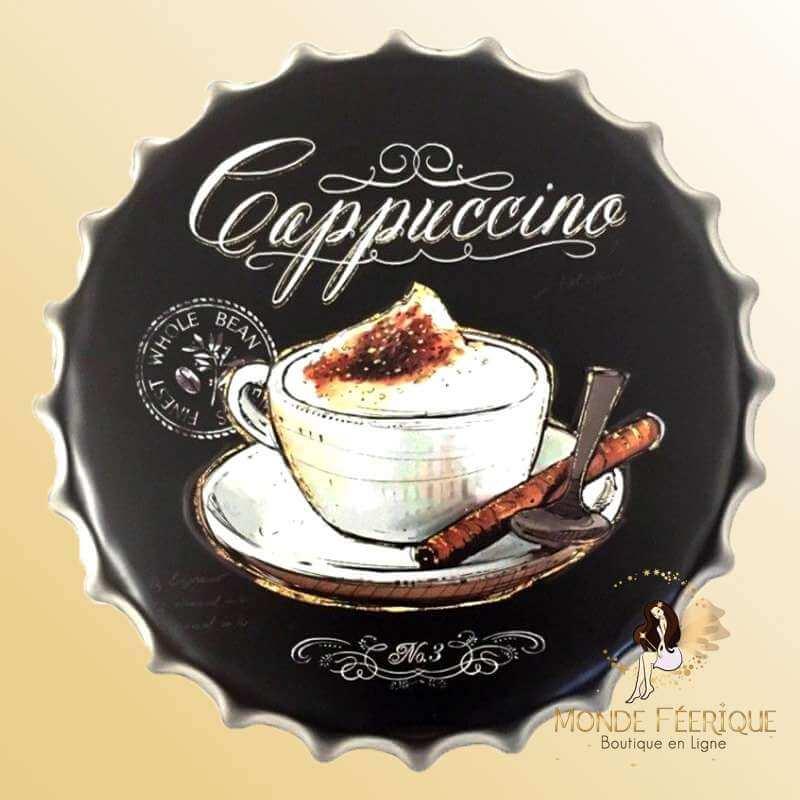 Capsule Métal Café Capuccino 40cm
