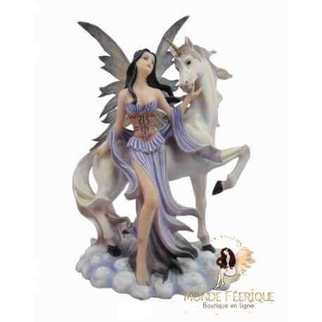 statuette fée Licorne Fantasy