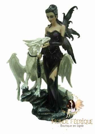 Statuette Fée Dragon Dark & Bright 2