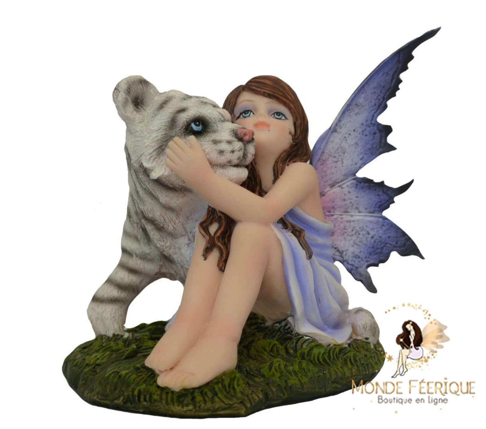 Statuette Fée Tigre Baby -- 13cm