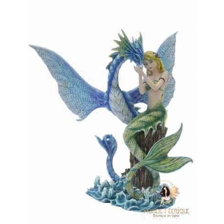 Statuette Sirène & Dragon