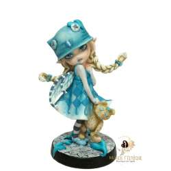 Figurine Fée Ecolière -- 16,5cm