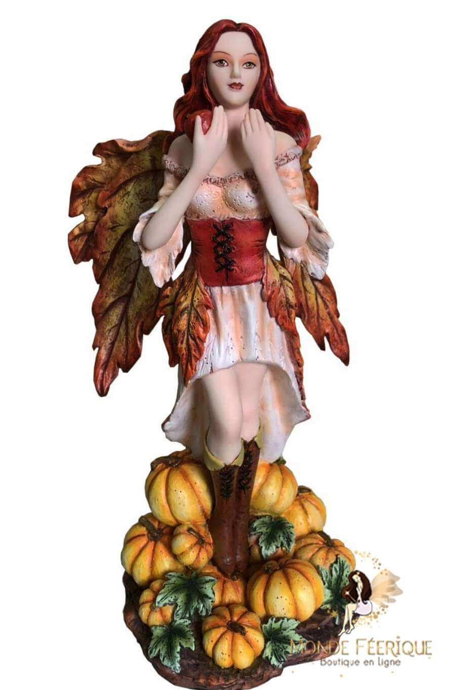 Figurine Fée Citrouille -- 24cm