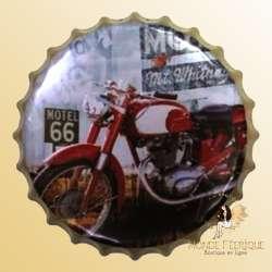 Capsule Métal Moto Road66 40cm