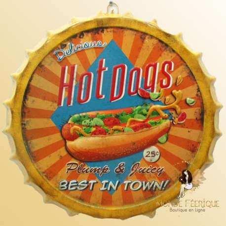 Capsule Décoration HOT DOG fast food restaurant vintage