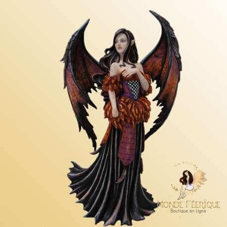 Grande Statuette Fée Amy Brown Black Angel -- 45cm