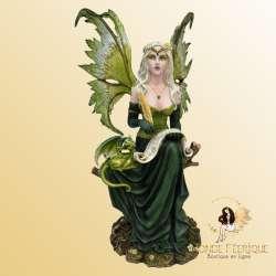 Statue Fee Geante Ecrivain -- 45cm
