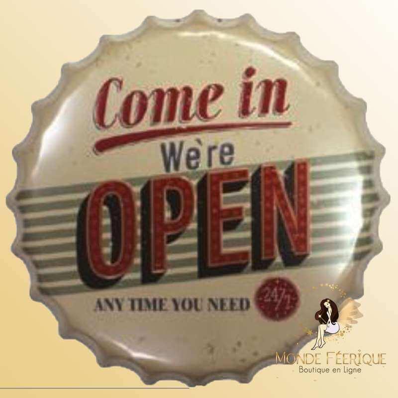 Capsule Géante Vintage We are Open-- 40cm