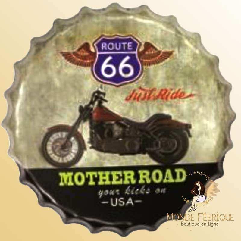 Capsule Décoration Moto Route66 -- 40cm