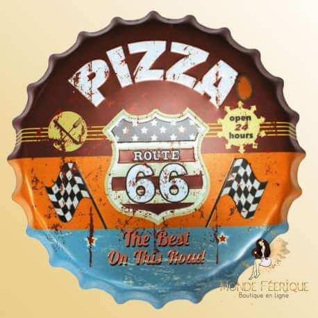Grande Capsule Geante Pizza decoration metal